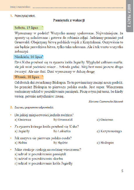 czytanie ze zrozumieniem angielski testy pdf